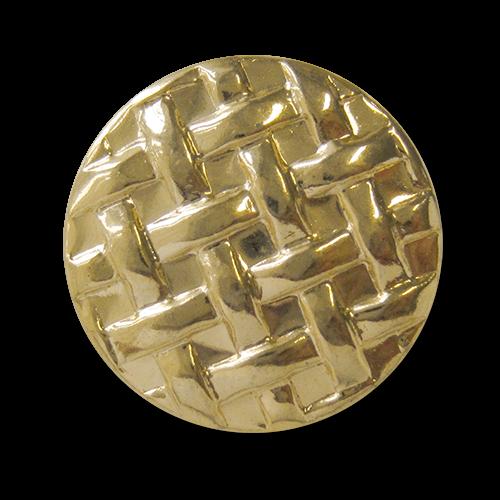 www.Knopfparadies.de - 4225go - Goldene Ösenknöpfe aus leichtem Metallblech mit verwobenen Bändern