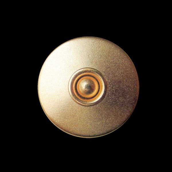 Schlichter matt goldfb. Metallknopf mit Kugel / B-WARE