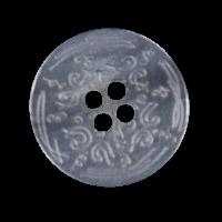 Nostalgischer grau perlmuttartiger Kunststoff Knopf