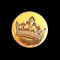 Gold-schwarzfarbene Knöpfe mit Krone