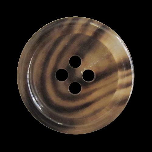 www.knopfparadies.de - 3736bf - Hochwertig verarbeitete Büffelhornknöpfe mit vier Löchern