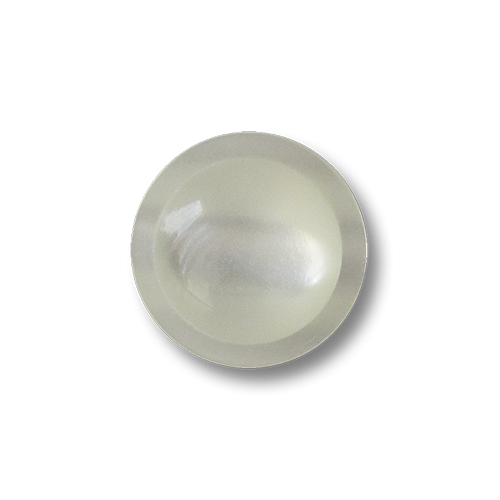 Bezaubernde kleine perlmuttweiß schimmernde Ösen Kunststoffknöpfe
