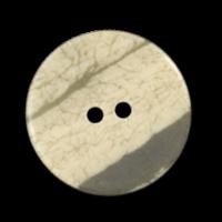 Beige-braun-grauer Kunststoffknopf mit Krakelee-Effekt