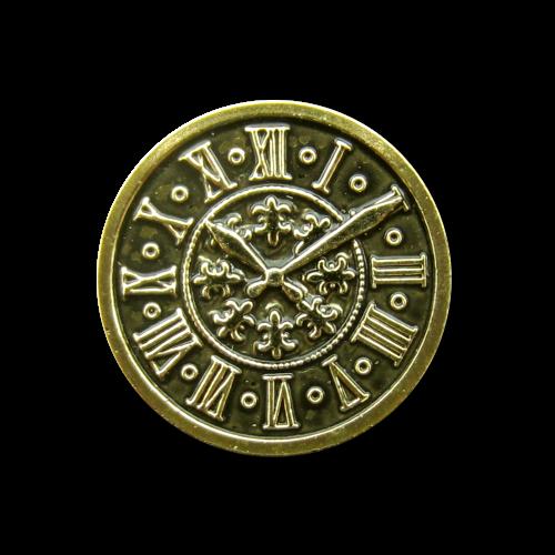 Packung - 8 altgoldfarbene Uhrenknöpfe