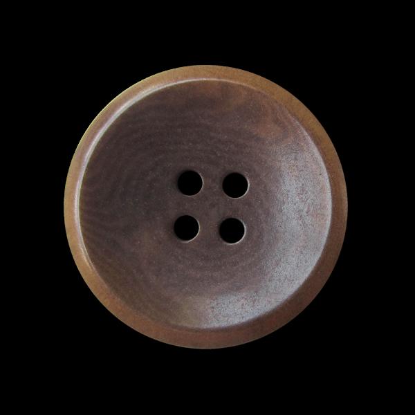 Eleganter brauner Designer Knopf aus Steinnnuss