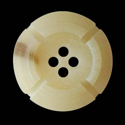 www.Knopfparadies.de - 3018be - Edle natur melierte Kunststoffknöpfe in Büffelhorn Optik