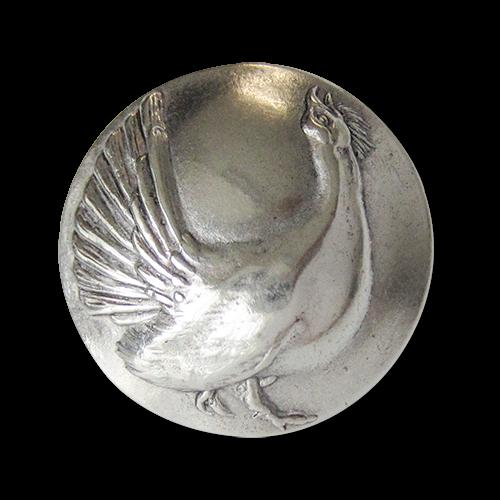 www.knopfparadies.de - 3268sg - Silberfarbene Trachtenknöpfe mit kährnedem Auerhahn