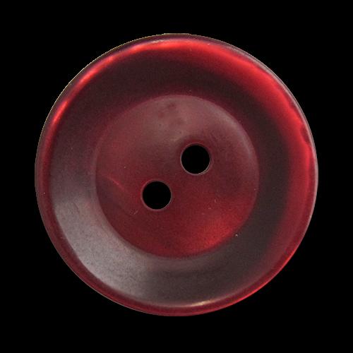 www.knopfparadies.de - 5818dr - Dunkelrot schimmernde Mantelknöpfe aus Kunststoff