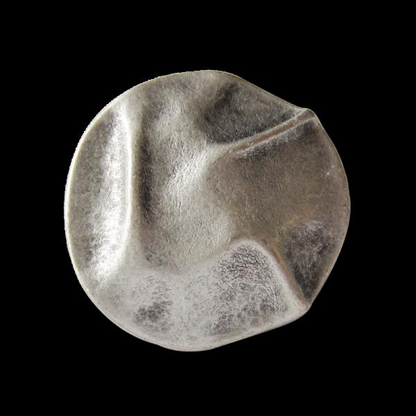 Metallknopf wie aus drappiertem Stoff