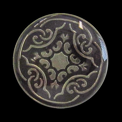 www.knopfparadies.de - 3277br - Schwere Metallknöpfe mit nostalgischem Muster