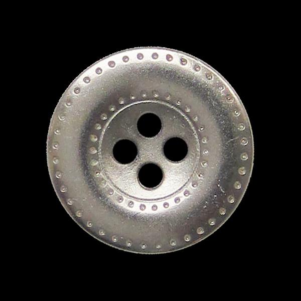 Attraktive silberfarbener Vierloch Metall Knopf mit Loch Muster