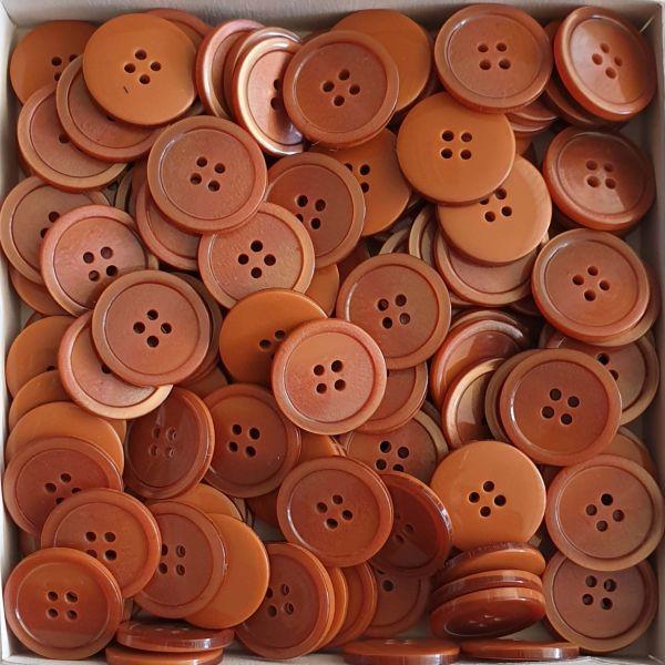 www.knopfparadies.de - 411123 - Rötlich hellbraune Knöpfe zum Großhandelspreis