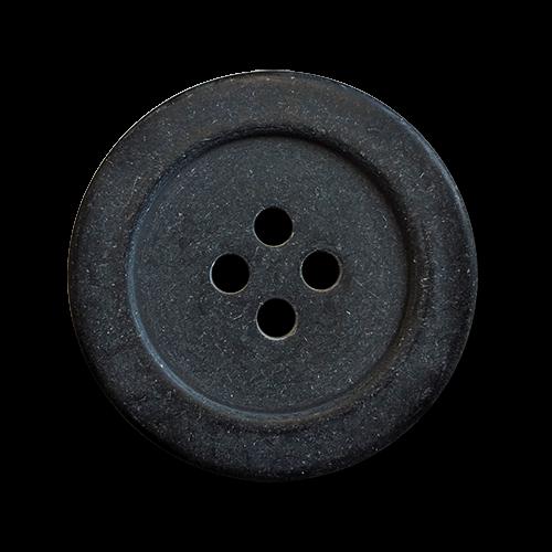 www.knopfparadies.de - 5446az - Günstige, dunkle Kunststoffknöpfe mit vier Löchern