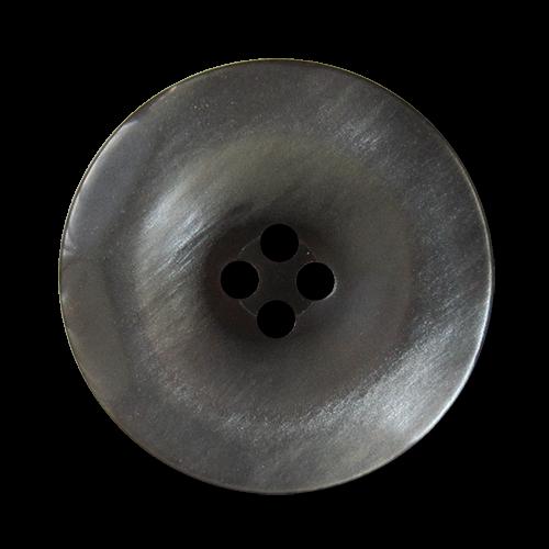 www.Knopfparadies.de - 1559gr - Hübsche perlmuttartig graue Vierloch Kunststoffknöpfe