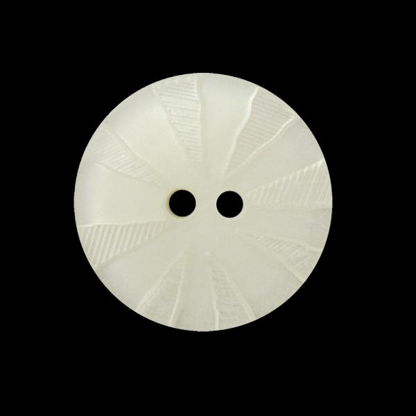 Weiß perlmuttartig schimmernder Knopf m. Strahlenkranz