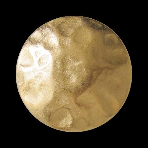 www.Knopfparadies.de - 0692mg - Älter wirkende matt goldfarbene Metallknöpfe wie aus dem Mittelalter