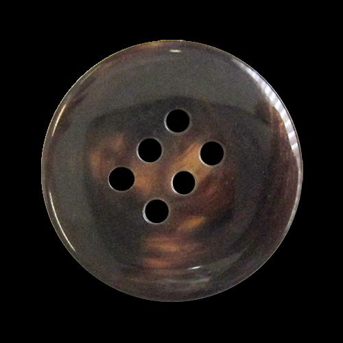 www.Knopfparadies.de - 0472br - Kreative Sechslochknöpfe aus Kunststoff in Braun