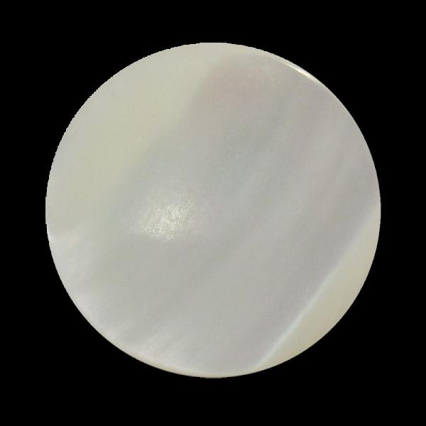 www.Knopfparadies.de - 1567we - Hochwertige weiße Perlmuttknöpfe mit Metall Öse