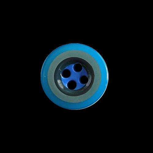 Blau-grün, khaki geringelte Hemdenknöpfe, 4-Loch, klassische Form
