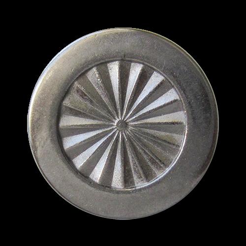 www.Knopfparadies.de - 5945ch - Elegante Ösenknöpfe aus Metall in Chrom