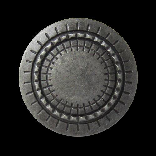 www.knopfparadies.de - 2696ed - Interessante Mantelknöpfe aus Metall