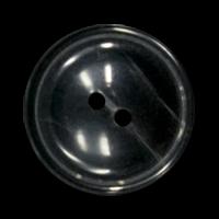 Schüsselförmiger schwarz grau melierter Zweiloch Knopf