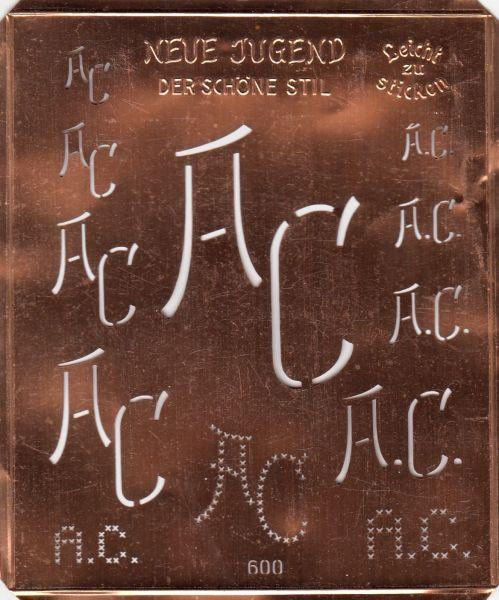 Attraktive Kupferschablone - AC