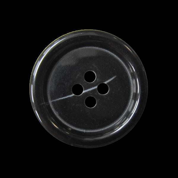 Großer klassischer schwarzer Vierloch Kunststoff Knopf