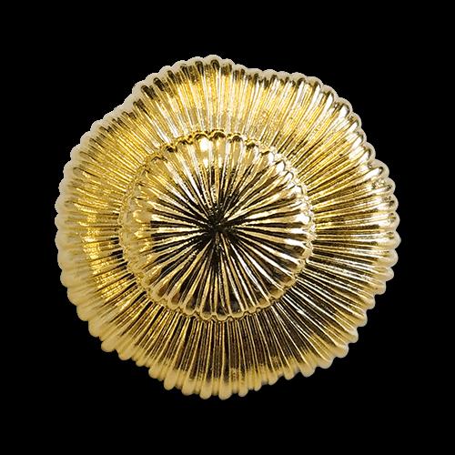 www.knopfparadies.de - 6133gg - Glänzend goldfarbene Kunststoffknöpfe