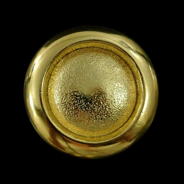 Eleganter großer goldfarbener Ösen Metall Knopf