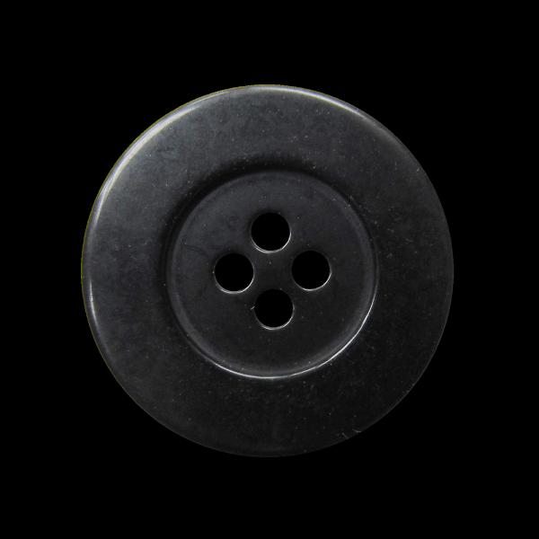 Günstiger schwarzer Vierloch Kunststoff Knopf / B-WARE