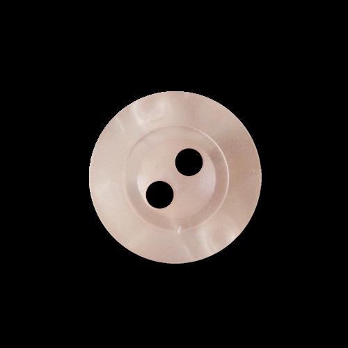 Rosa Blusen Knopf mit zwei Knopflöchern in Perlmutt Optik