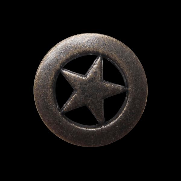 Toller Durchbruch Metall Knopf mit 5-zackigem Stern