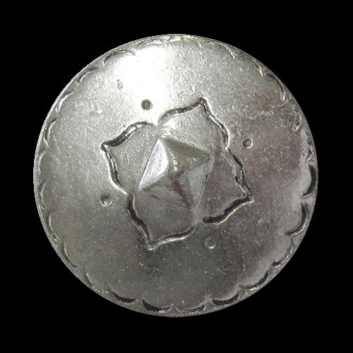 www.knopfparadies.de - 5919sg - Metallknöpfe mit ländlichem, traditionellem Motiv in Vintage Look