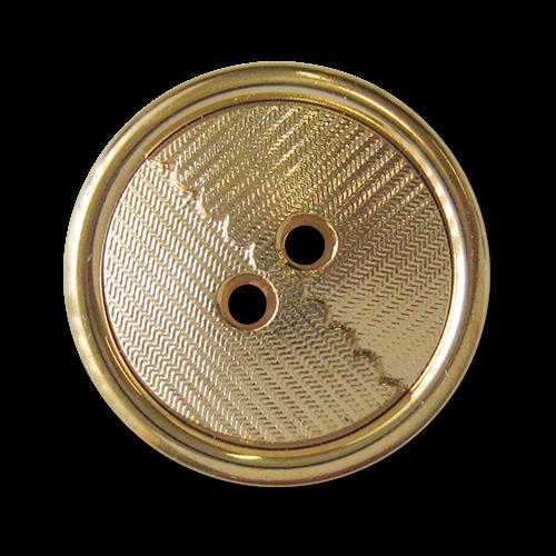 www.knopfparadies.de - 4027go - Elegante Kunststoffknöpfe mit zwei Löchern