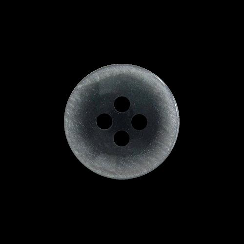 www.knopfparadies.de - 5889bl - Blau-grau schimmernde Blusenknöpfe mit vier Löchern