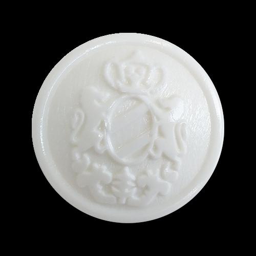 www.knopfparadies.de - 2206we - Leichte, weiße Blazerknöpfe aus Kunststoff