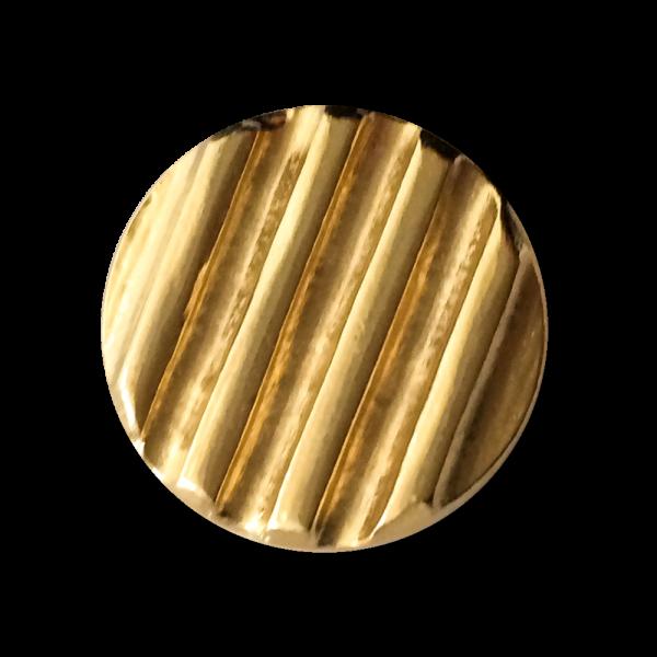 Stark gerillte goldfarbene Metallknöpfe