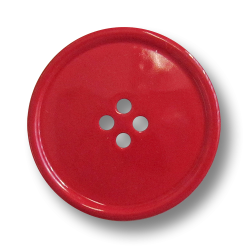 www.knopfparadies.de - 0351ro - Rote Kunststoffknöpfe, günstige B-Ware