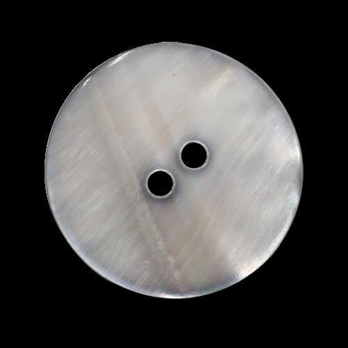 www.knopfparadies.de - 6184gr - Hellgrau schimmernde Perlmuttknöpfe mit zwei Löchern