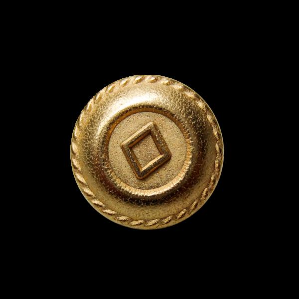 Kleiner goldfarb. Metallknopf mit Raute für Blusen etc
