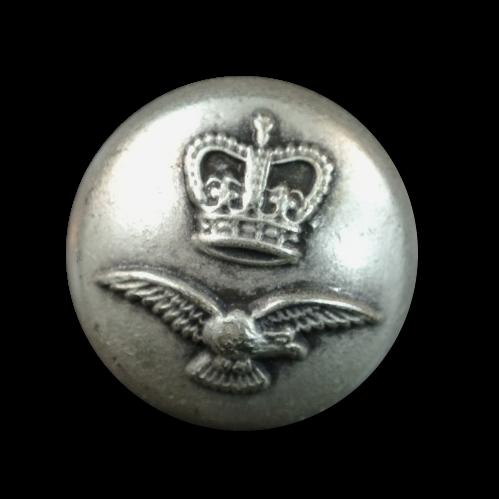 Altsilberfb. Knopf mit Krone und Adler
