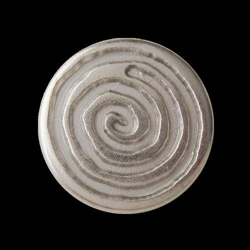Silberfarbene Metall Ösen Knöpfe mit großer Spirale