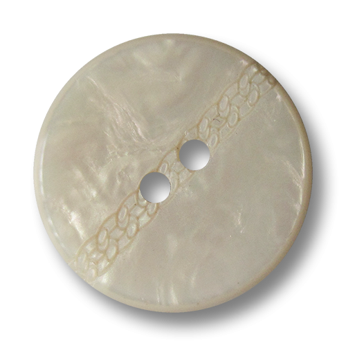 www.knopfparadies.de - 4151nw - Hübsche weiße Kunststoffknöpfe in Perlmutt Optik mit Zierband