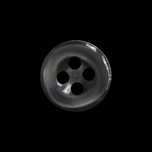 www.knopfparadies.de - 5886gr - Blusenknöpfe aus Kunststoff in grau schimmernde Perlmuttoptik