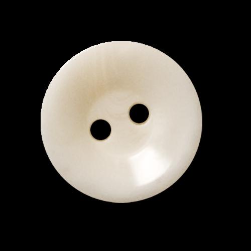 Hübscher marmorierter Blusenknopf in sehr hellem beige