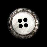 Schicker, schlichter Vierlochknopf aus Metall