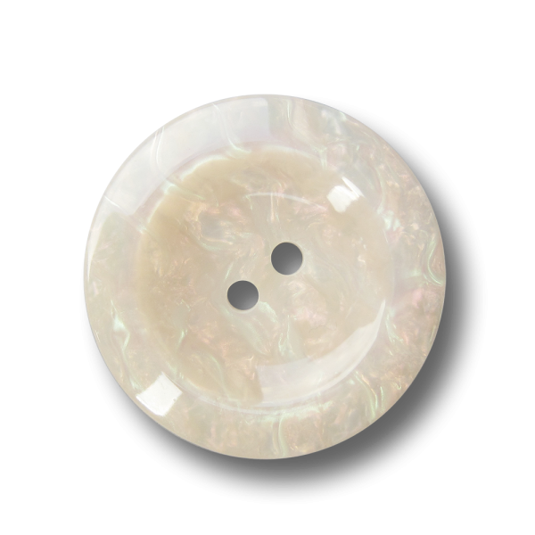 Schöner weiß irisierender Knopf mit Perlmutt Schimmer