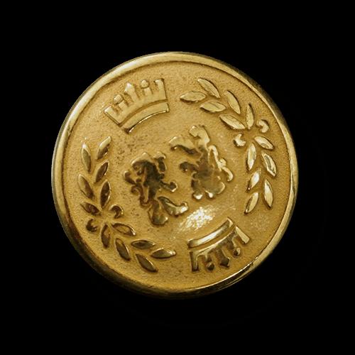 Goldfarbener Blazer Knopf mit Löwe, Krone und Lorbeer