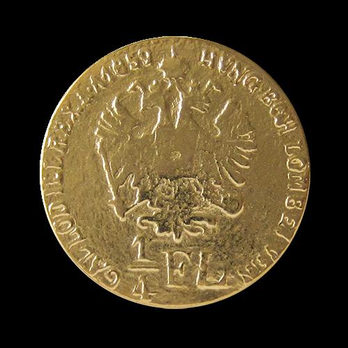 www.knopfparadies.de - 0322gg - Gold glänzende Metallknöpfe od. Münzknöpfe mit historischem Motiv